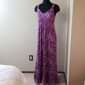 Soma Purple Floral Print Maxi Dress